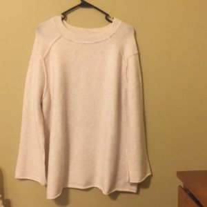 Zara Knit Oversize Cream Sweater, Small